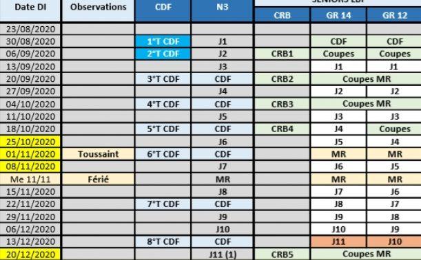 Calendrier Général 2020 2021 Seniors Hommes dévoilé – LIGUE